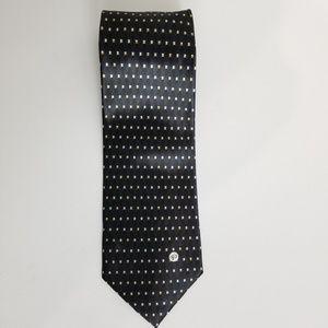 VTG Versace V2 Navy Silk Tie